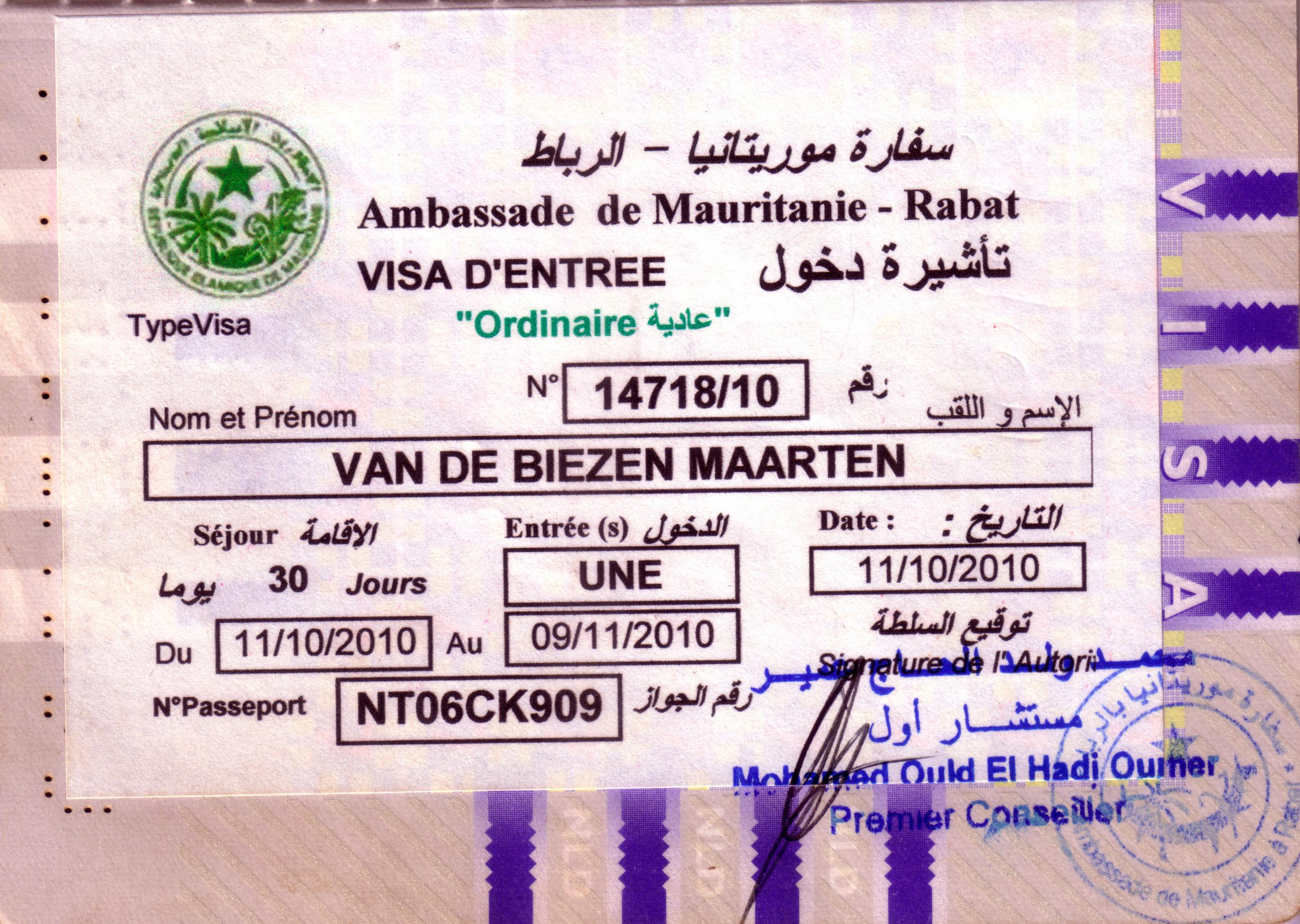 visum til marokko