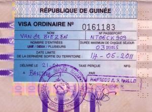 Visum-Guinee