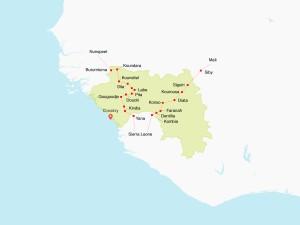 kaart guinee