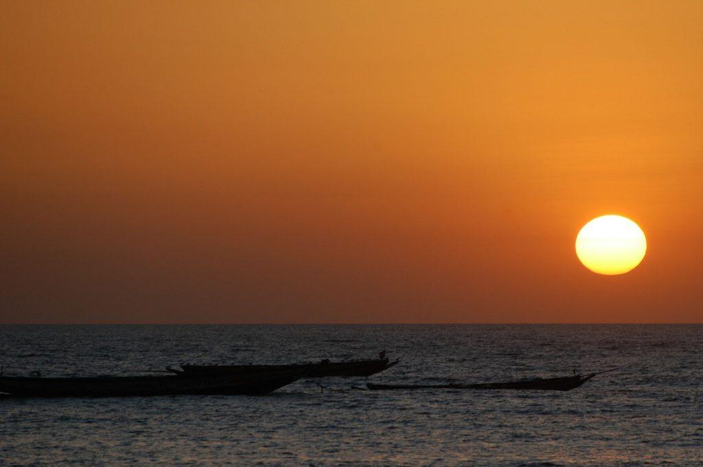 Zonsondergang Gunjur Gambia