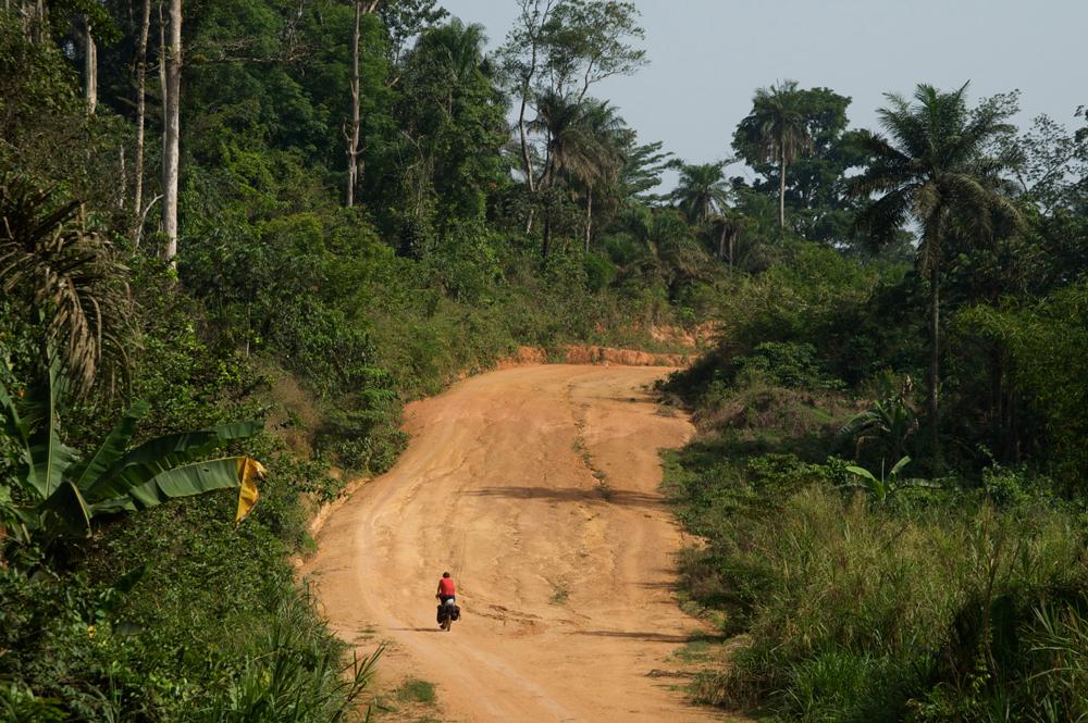 Slechte wegen in Sierra Leone