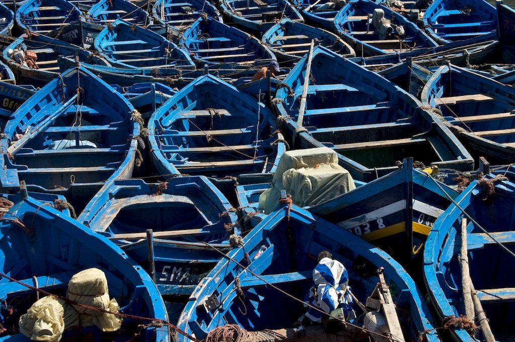 Vissersboten Essaouira Marokko