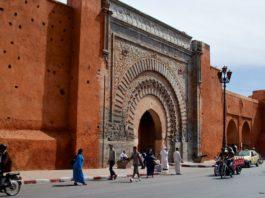 Stadsmuur Marrakech Marokko