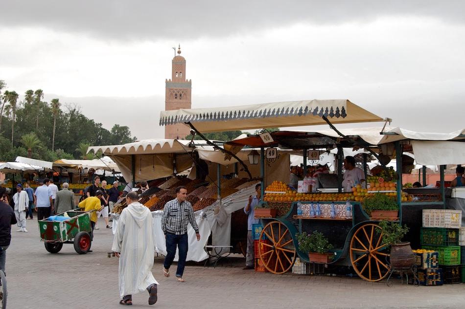Djemma el Fna-plein Marrakech Marokko