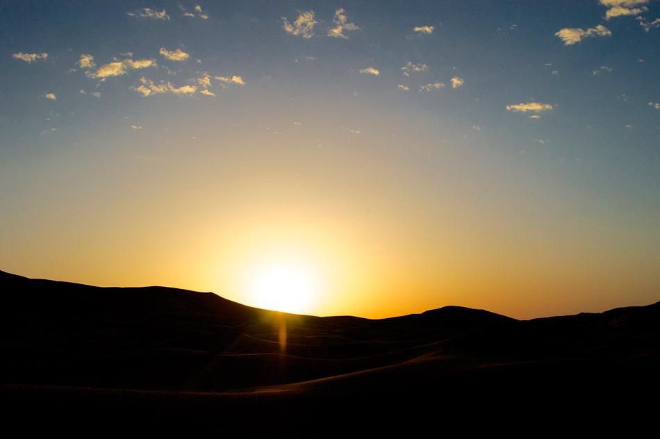 Zonsondergang Merzouga Marokko