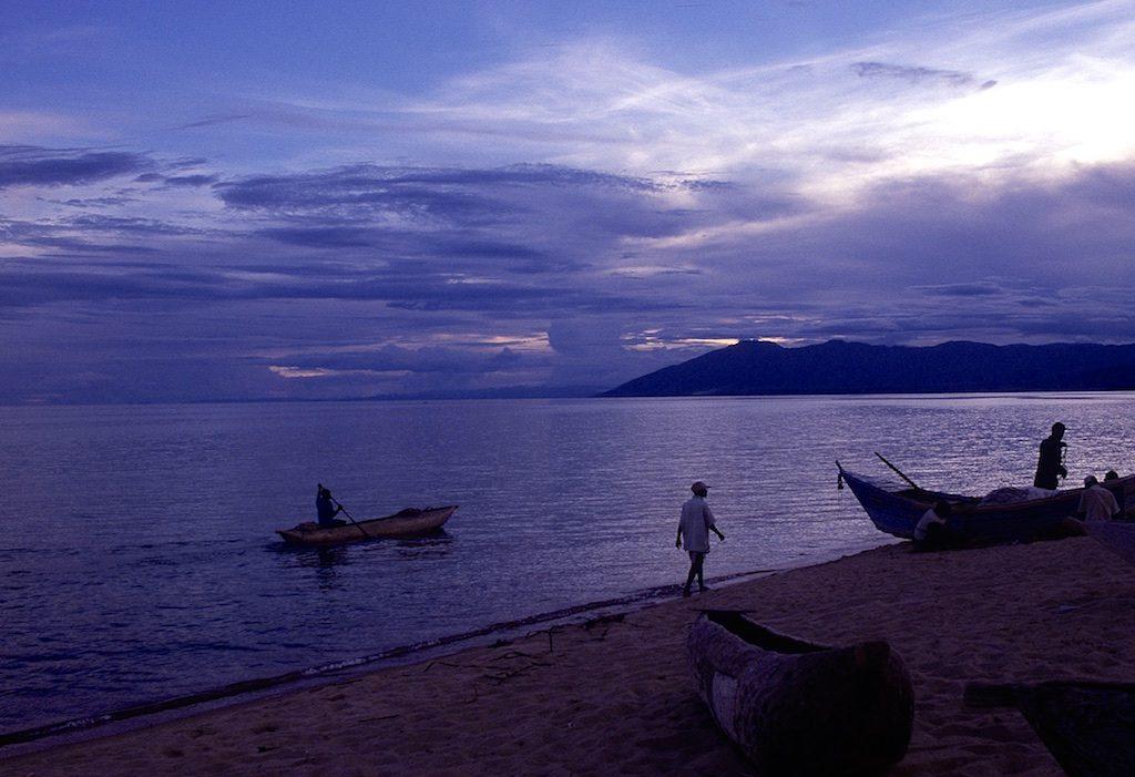 Zonsondergang bij Lake Malawi