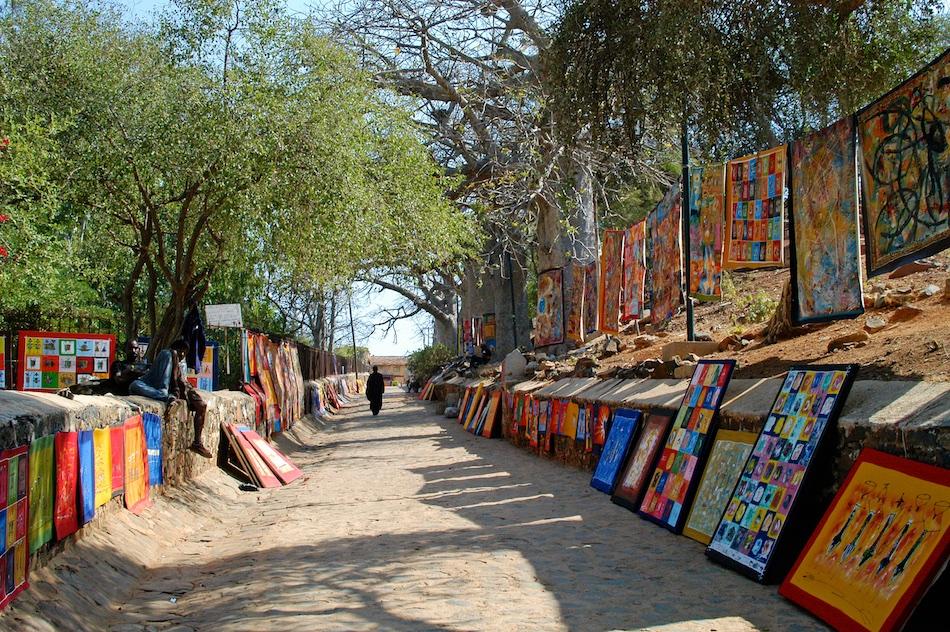 Senegal Ile de Goree kunst