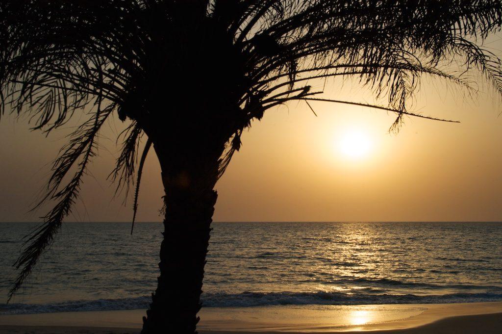 Zonsondergang Varela Guinee-Bissau