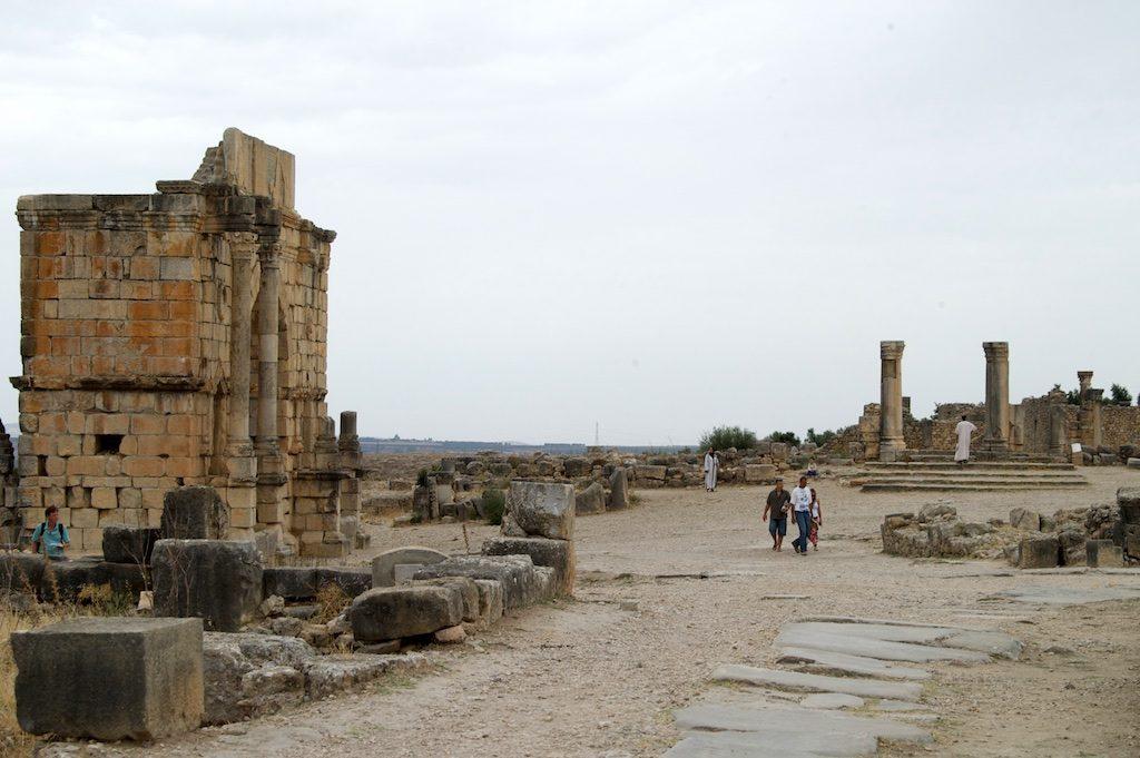 Romeinse ruïnes van Volubilis Marokko