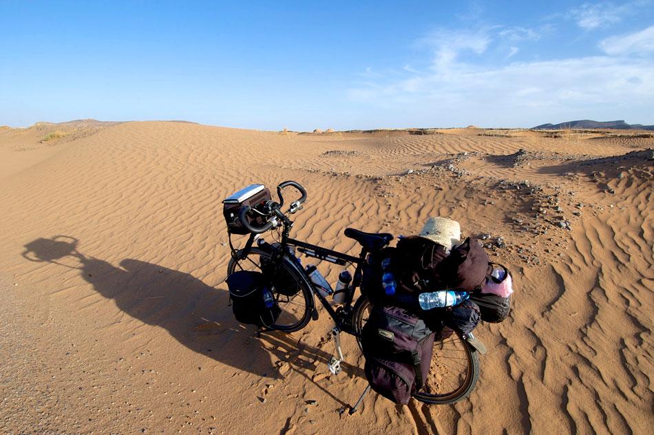 Fietsen naar Merzouga Marokko