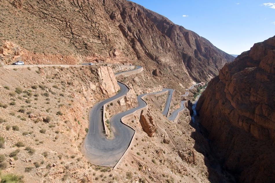Dades Kloof en vallei in Marokko
