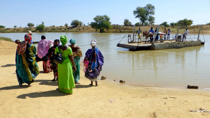 Senegal rivier bij Podor