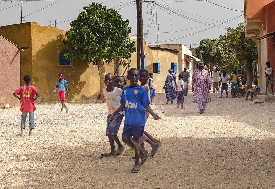 Straat in Joal-Fadiouth Senegal