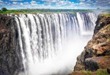 Victoria Falls watervallen Zimbabwe 1
