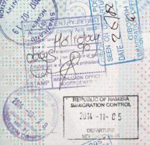 Visum Namibië