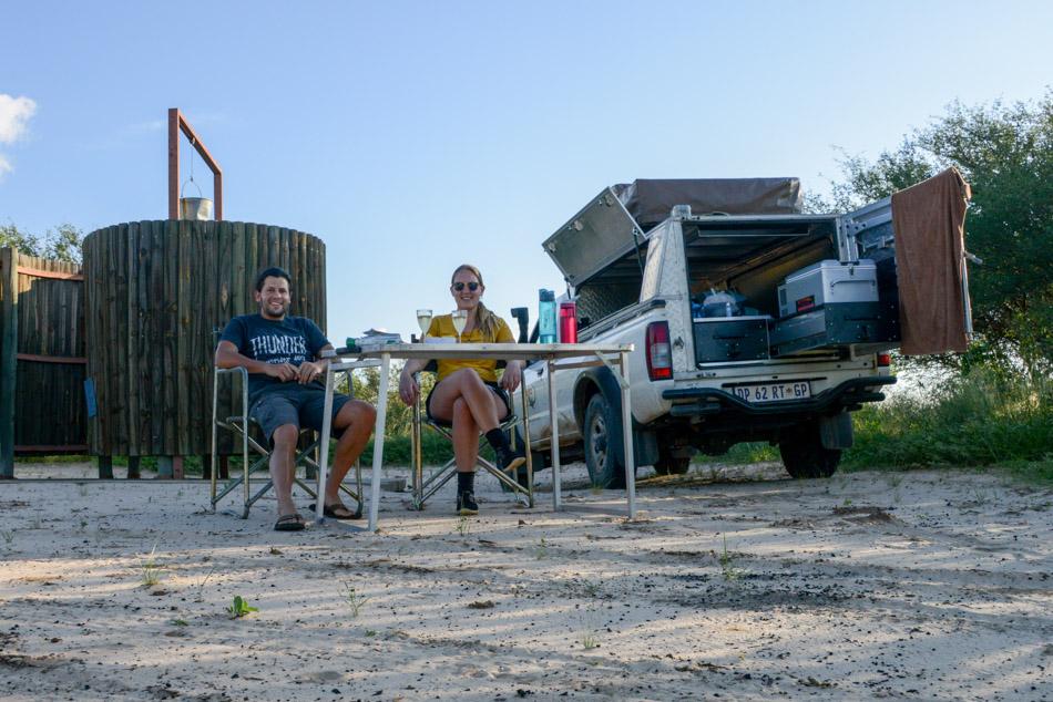 kamperen Khutse Botswana