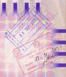stempel paspoort visum Marokko