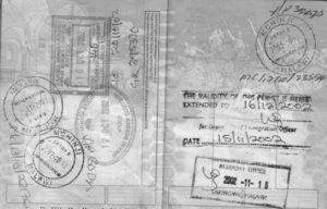 visum in paspoort van malawi