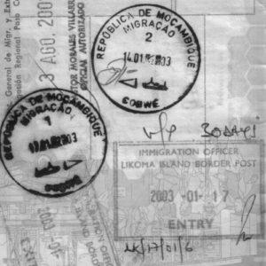 visum in paspoort mozambique