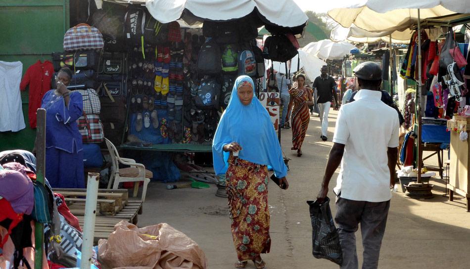 Markt Serekunda Gambia Afrika