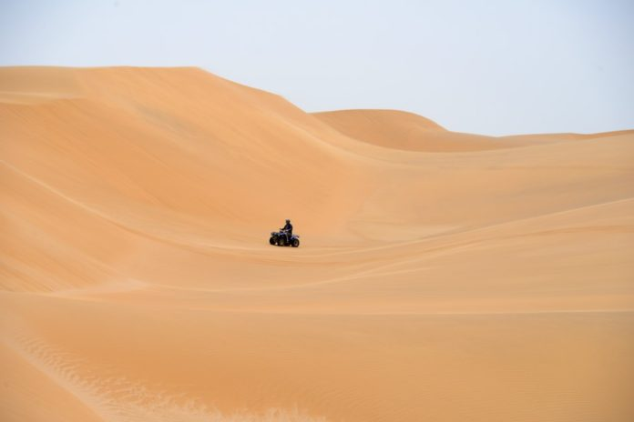 Swakopmund Namibie quad zandduinen