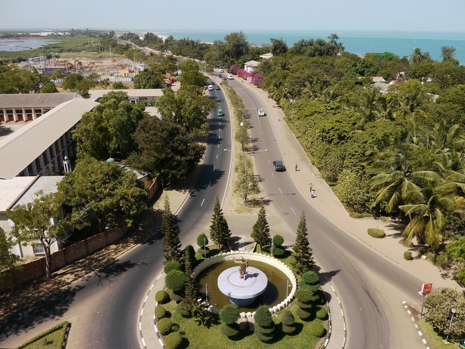 Uitzicht over Banjul Gambia