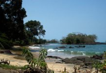 Black Johnson Beach Freetown Sierra Leone