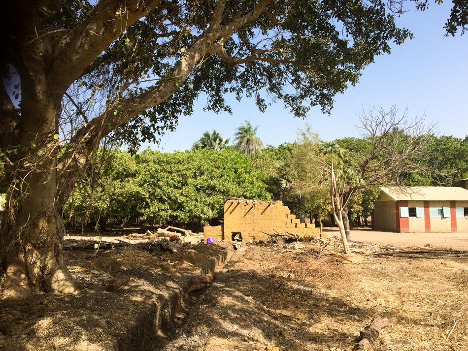 Muur school Niafarang Senegal