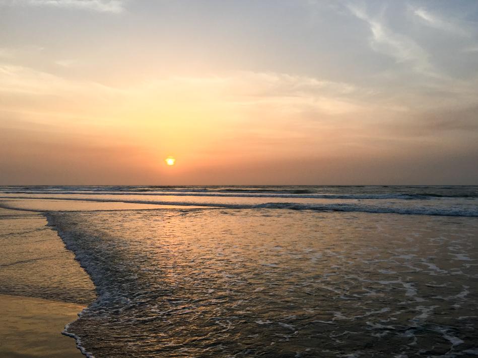 Strand en zee Niafarang Casamance Senegal