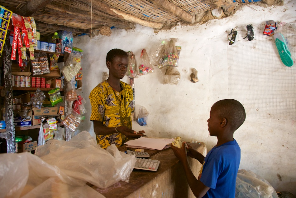 Niafrang-winkel Senegal Casamance