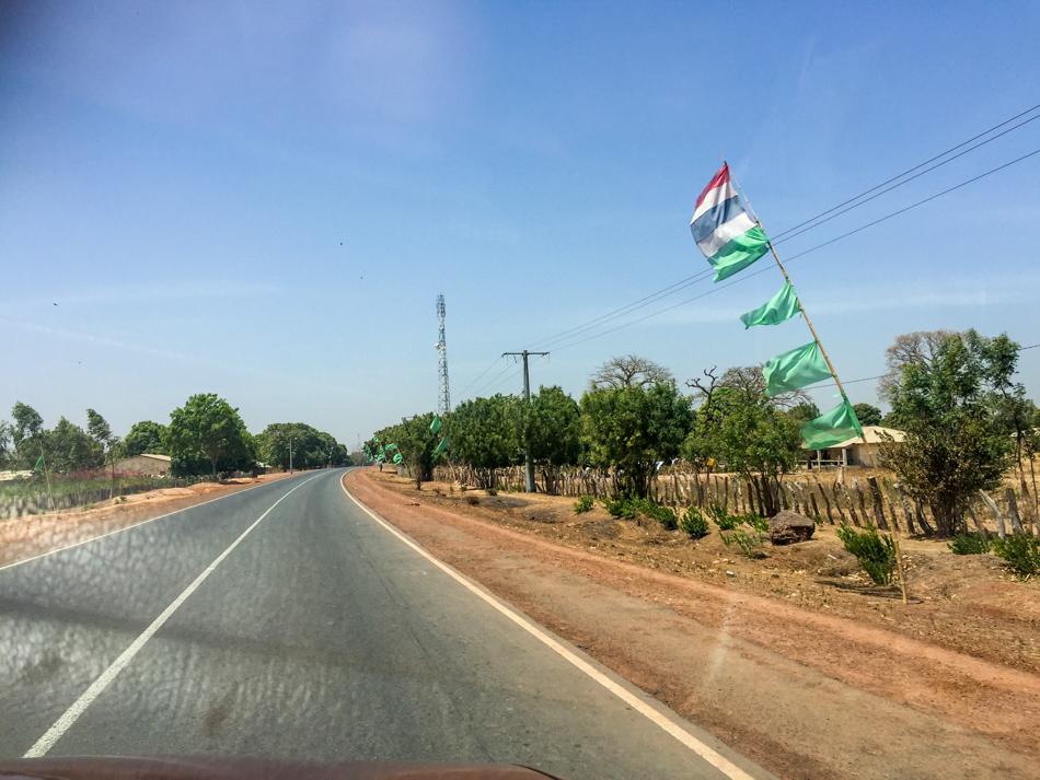 Groene vlaggen Jammeh Gambia