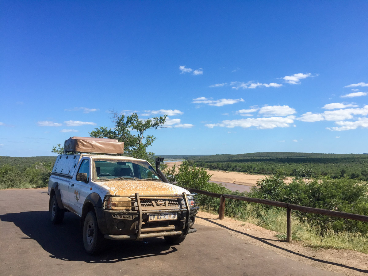 Rijden door Krugerpark Zuid Afrika