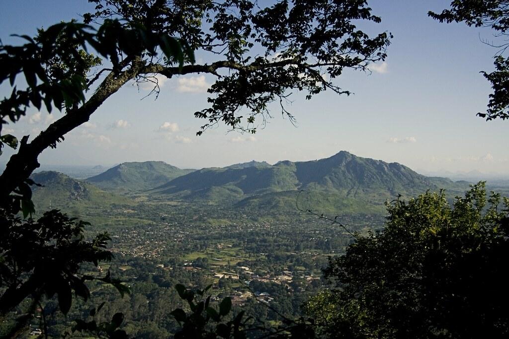 Zomba Plateau uitzicht zonder wolken