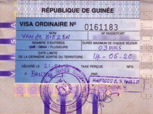 paspoort visum Guinee