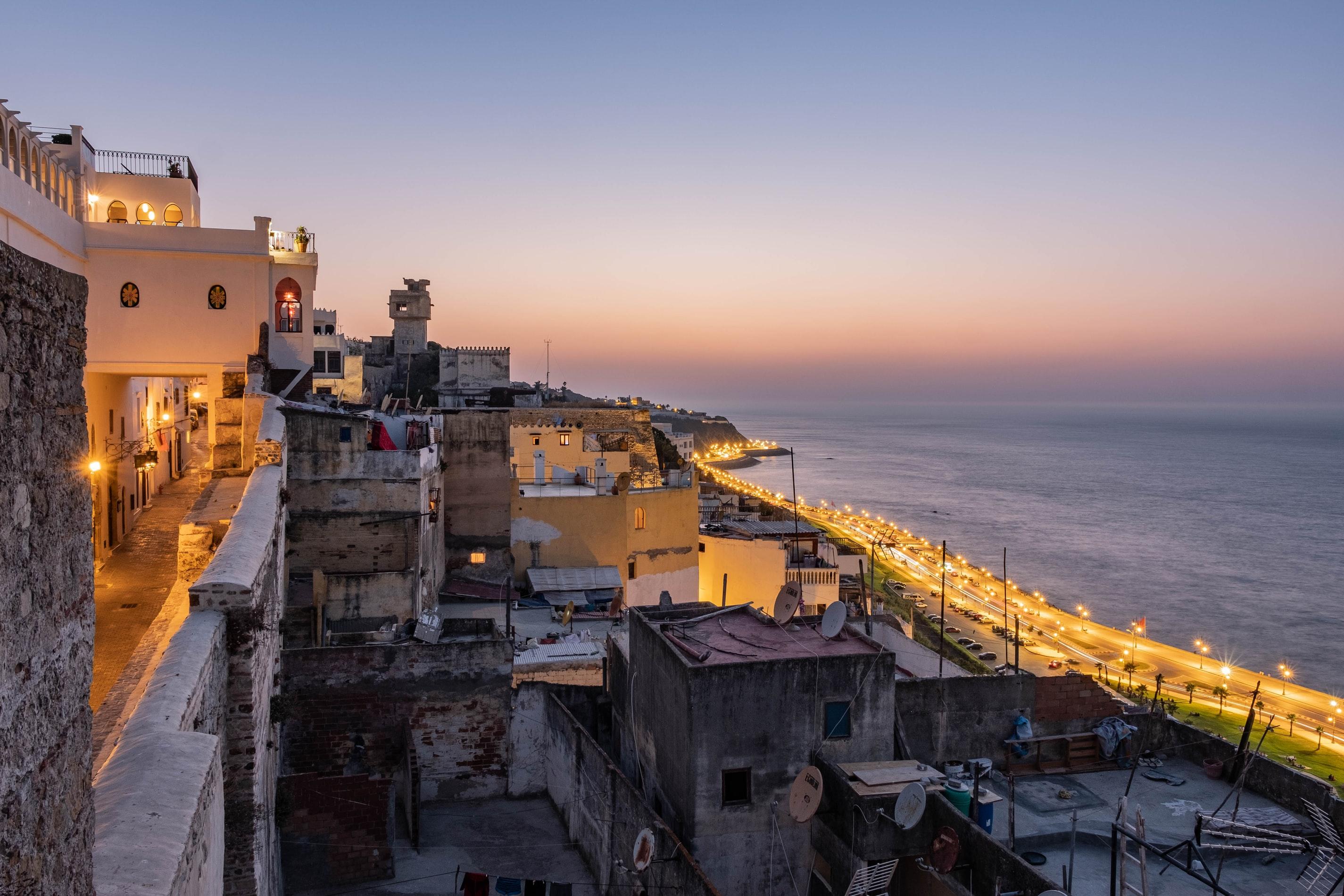 Uitzicht vanuit Riad in Tanger