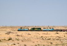 IJzererts trein Mauritanië
