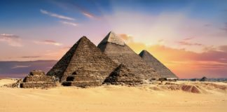 De piramiden van Gizeh