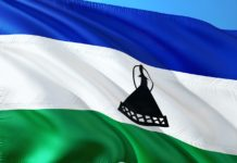 vlag van Lesotho