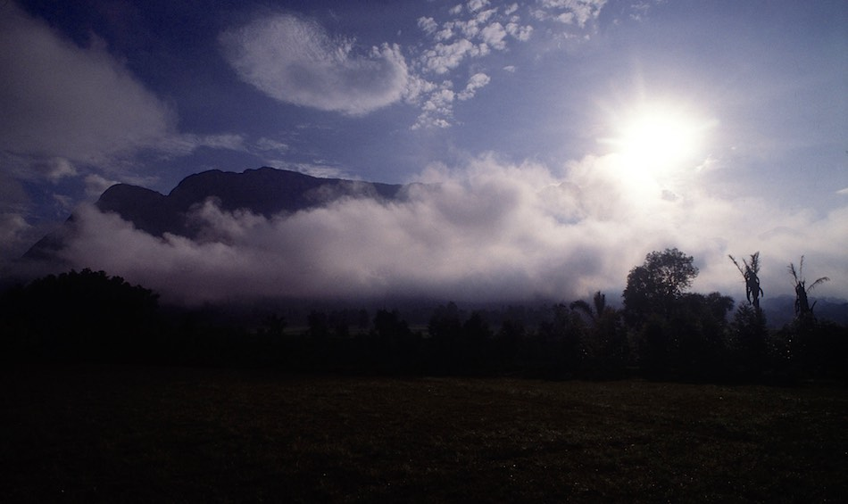 Mount Mulanje eiland in de mist
