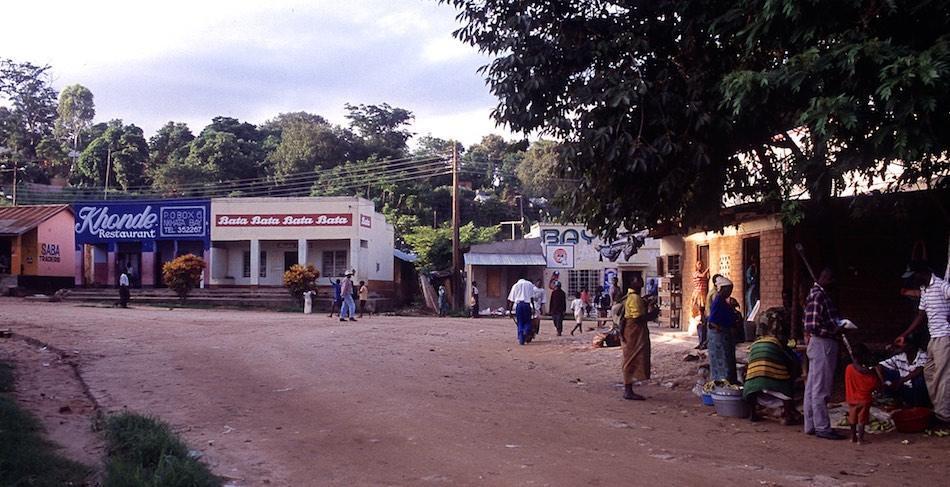 Straatbeeld Nkhata Bay Malawi