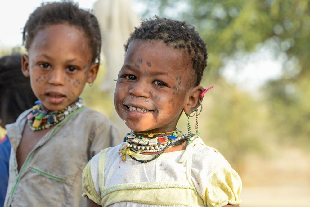 Fulani Bororo Tsjaad kinderen