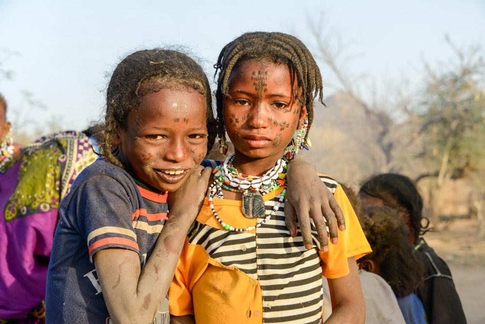 Fulani Bororo Tsjaad tatoeages