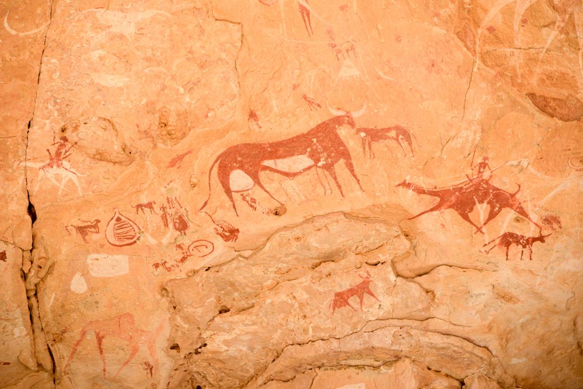 Guelta d'Archei Ennedi rots tekening