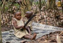 BaAka pygmeeën Centraal Afrikaanse Republiek machette