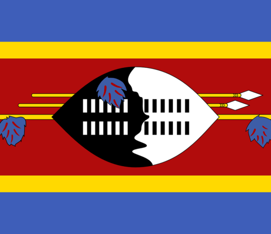 De vlag van Eswatini