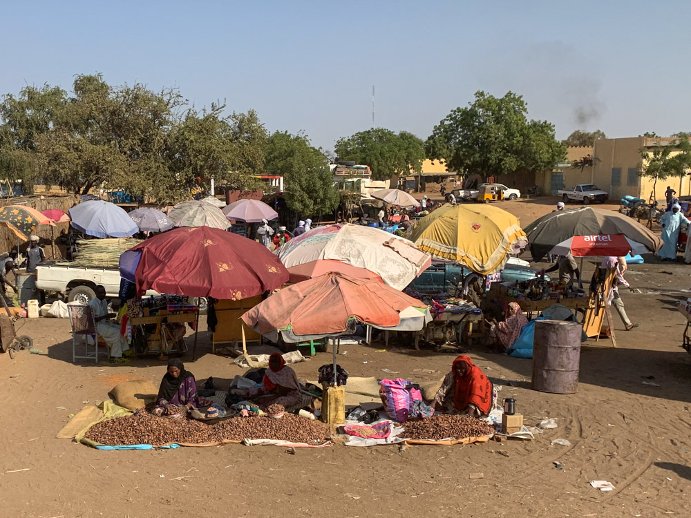 Oum Hadjer Tsjaad markt