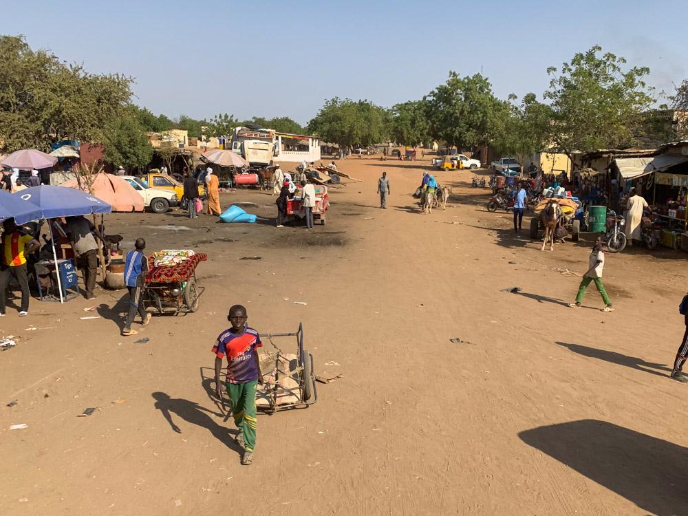 Oum Hadjer Tsjaad straatbeeld