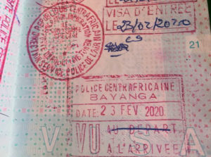 Visum Centraal Afrikaanse Republiek