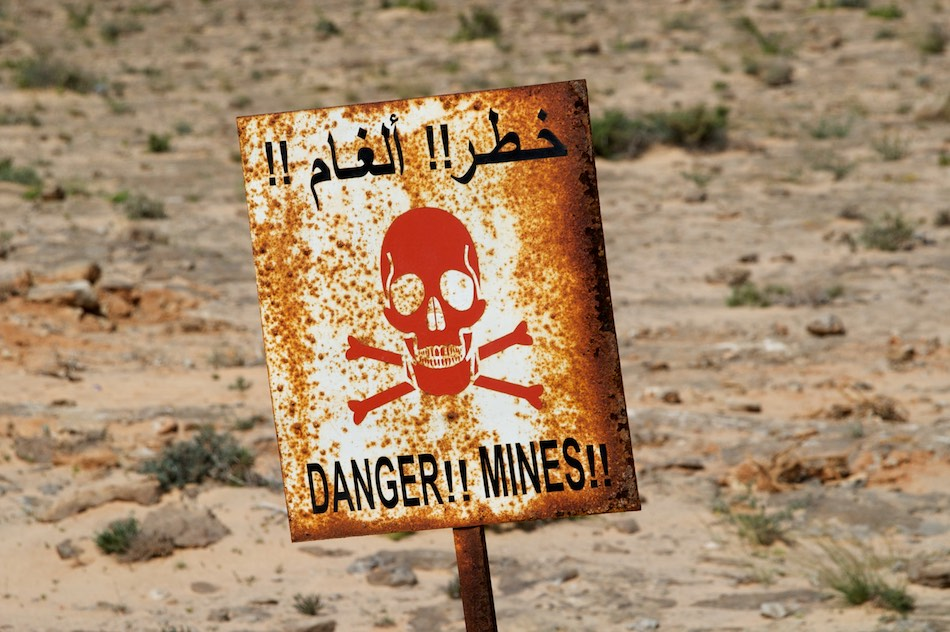 Danger mines Sahara