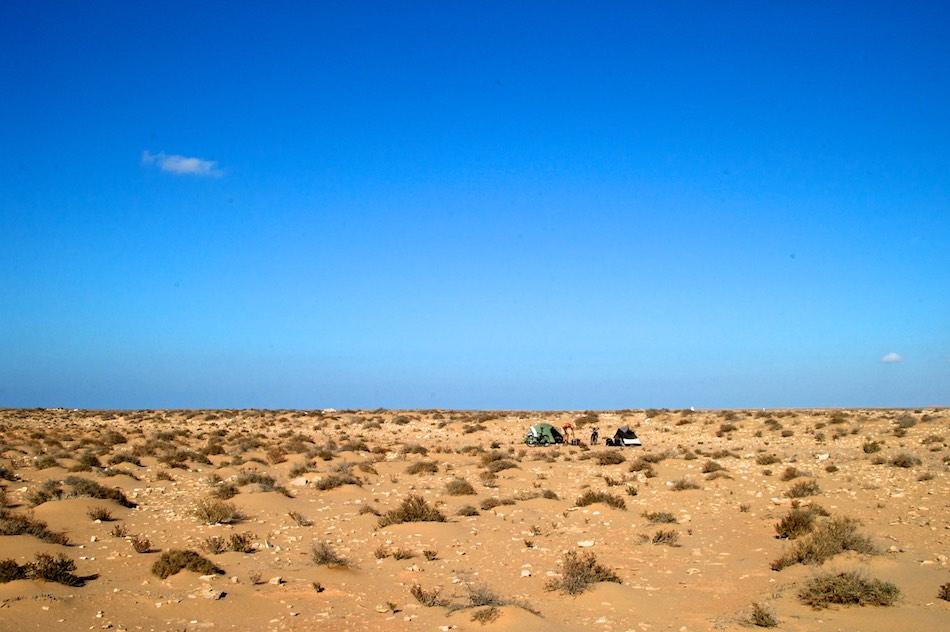 Kamperen Sahara